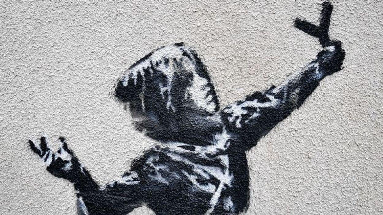 Banksy katapult