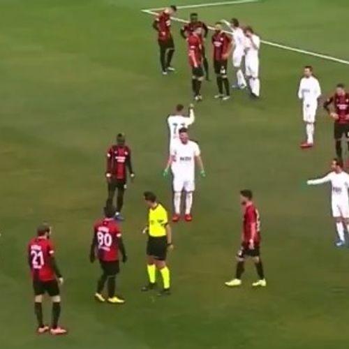 Afbeelding van Web Draait Door: Zwerfhond steelt bal (en de show) bij voetbalwedstrijd Istanbul