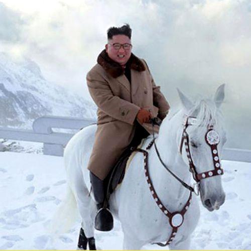 Afbeelding van Web Draait Door: Kim Jong Un is prins op het witte paard